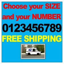 1 Black REFLECTIVE NUMBER Vinyl Decal Sticker Street Address Mailbox House Truck