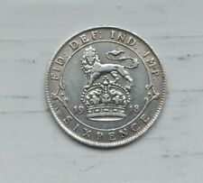 Collectable Grade 1918 Silver Sixpence George V