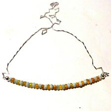"""JFTS, Blue, Larimar, Yellow, Ethiopian, Opal, Bead, Necklace, Gift Wife, 17 1/2"""""""