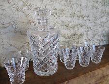 Saint Louis, ensemble à liqueur en cristal, carafe et 8 verres