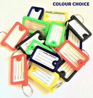 Quality Coloured Double Sided Key Tags Rings Identifier ID~FOB~Tab~car Office