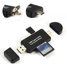Micro USB Type C OTG to USB 2.0 Adapter SD Card Reader For Android Phone PC UK