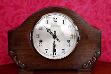 Vintage Art Deco 'Bravingtons Renown' Oak Mantel Clock with Westminster Chimes
