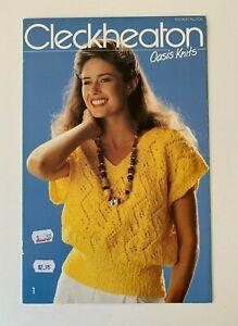 Vintage Cleckheaton Knitting Pattern 706 women's summer tops