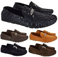 MENS MOCASSIN DESIGNER STYLE LOAFERS PARTY WEDDING BOYS OUTDOOR CASUAL SHOES SZ