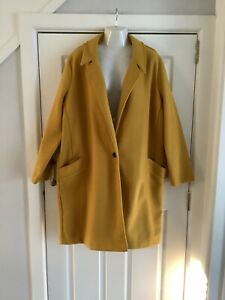 tu ladies mustard coat size 22 worn once excellent condition