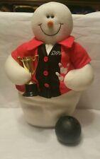 Snowman king Pin Bowling Ball Plush Stuffed Doll Figure