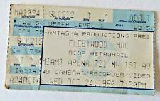 Fleetwood Mac Behind The Mask Tour Ticket Stub Oct 24 1990 Miami Florida #2519
