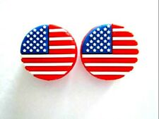 2 Usa Flags United States of America Tennis Vibration Shock Absorber Dampener Us
