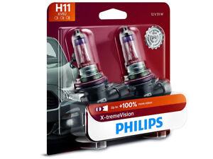 2x NEW PHILIPS XTREME VISION 100% H11 12362XVB2 HEADLIGHT DRIVING LIGHT BULBS
