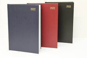 2022 A5 OR A4 '2 DAYS PER PAGE' HARDBACK & CASEBOUND DIARY PLANNER WITH FREE PEN