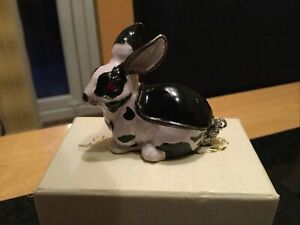Hidden Treasures Rabbit Trinket Box With Necklace Christmas Gift