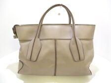 Auth TOD'S D-Bag Gureju Leather Handbag