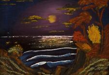 Stampa incorniciata-John Wayne gacy REPLICA PITTURA Ocean Bay al chiaro di luna (arte)