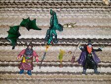 "The Wizards Magic Action Figure set Chap Mei rare lotr knock off 3-3/4"" dragon"