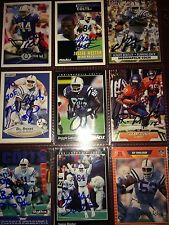 f. Indianapolis Colts NFL 9 football card auto autograph LOT Jessie Hester +more