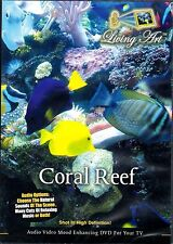 Living Art CORAL REEF: VIRTUAL TROPICAL AQUARIUM EXOTIC FISH TANK RELAXATION NEW