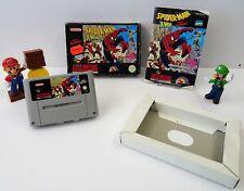 Super Nintendo SNES Jeu-Spider-Man X-men revenge + Guide + neuf dans sa boîte-CIB