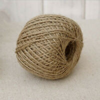 30M Natural Brown Jute Twine String DIY Rustic Craft Baskets Gifts Bows Jute