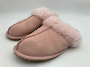 UGG Scuffette II Fluffy Slip On Slippers Shoes Womens Pink Size UK 7