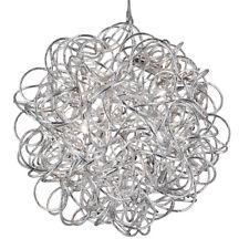 Searchlight 6 Lights Scribble Tangled Aluminium Pendant Chandelier Ceiling Light