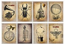 8 Vintage Steampunk Hang Tags Scrapbooking Journaling Cards Paper Crafts (4)