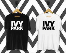 HOT NEW Ivy Park Logo Men's Clothing Black T Shirt Size S-3XL