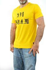 BNWOT DIESEL Canary Yellow Men's Dream World Rabbits Graphic Tee T-Shirt FAB