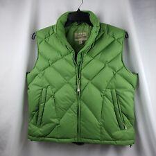 Cabela's Goose Down Woman Vest L Green