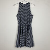 Gap Womens Navy/Grey Sleeveless Dress with Back Zipper Size XS