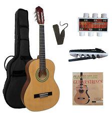 3/4 Gitarre, Juniorgitarre Glanzlack natur  C7 im Set, Tasche, Band, Zubehör, ö