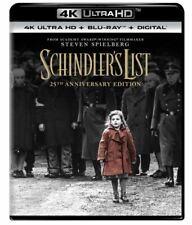 Schindler's List 4K Ultra Dh Blu-ray 25th Anniversary Edition 2018 Spielberg New