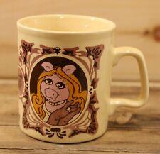 The Muppet Show Coffee Mug Miss Piggy Rare 1978 Vintage Kiln Craft Very Nice +