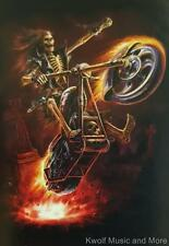 """Anne Stokes  Flag/ Tapestry/ Fabric Poster  """"Hellrider""""   NEW"""