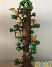 8pcs/set Pokemon Pikachu Splicing Tree Stump Figure Model Toy Gift No Box