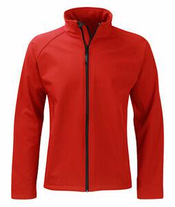 Men's High Quality Soft Shell Jacket - Black, Red, Navy, Grey - SS2G1