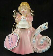 Josef Originals Birthday Girls Angel Figurine Age 6 Vintage Applause Nwt