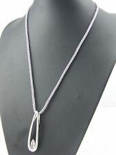 Pierre Lang Halskette Collier Anhänger Kordelkette Magnet Silber farbig Stein mv