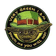 Irish Leprechaun Yoda Star Wars Irish yoda pinch me Morale Hook Patch (MTB22)