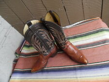 Men's Vintage Justin Teju Lizard Western Cowboy Boots 9 1/2 D Made In USA (g059)