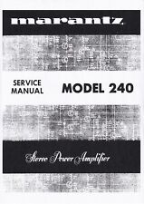 Service Manual-Anleitung für Marantz 240