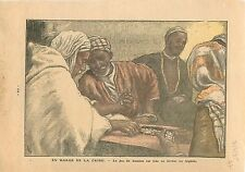Game Jeu de Domino Alger Algérie Algéria Musulmans Muslims Islamic People 1935