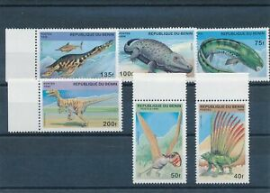 [342740] Benin dinosaurs good set very fine MNH stamps