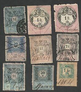 Lot of Austria (Austria-Hungary) Revenue Stamps