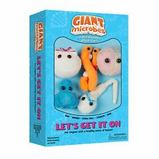 Giant Microbes Plush Toy Soft Original Gift Educational Let's Get It On Set of 5