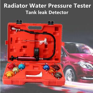 14PCS Car Cooling System Radiator Water Pressure Tester Tank leak Detector Valid