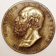 Medaille Histoire de la Medecine Hippocrate signee Duboc uniface