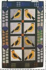 PATTERN-BEAUTIFUL GOLDFINCHES APPLIQUED WALL HANGING- COUNTRY THREADS