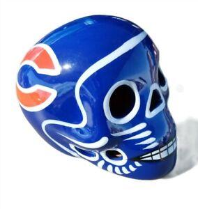 Chicago Bears Skull Helmet Ceramic MX. Clay Figure, Hand made/Painted 3''