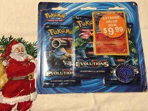 Rare Pokemon TCG Evolutions 3 Pack Blister NEW! Sealed! See pics